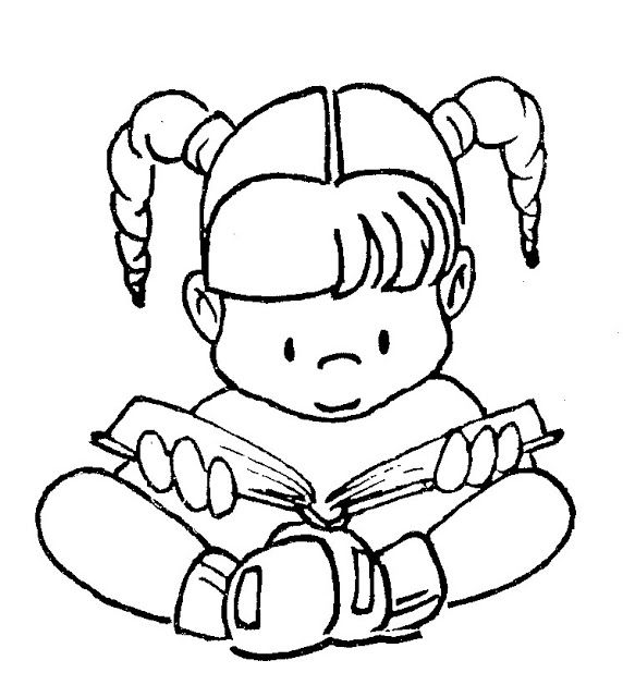 Reading Free Coloring Pages Coloring Pages Dia Do Livro