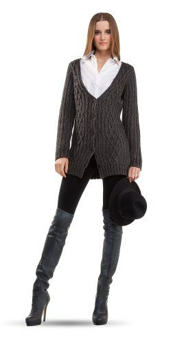 $68.00 cool MAXSTUDIO LONG CABLE CARDIGAN SWEATER