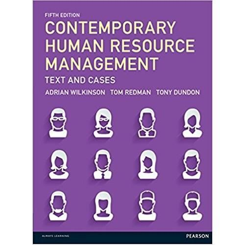Contemporary human resource management text and cases 5th edition contemporary human resource management text and cases 5th edition resource management and contemporary fandeluxe Choice Image
