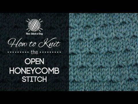 How to Knit the Open Honeycomb Stitch - YouTube