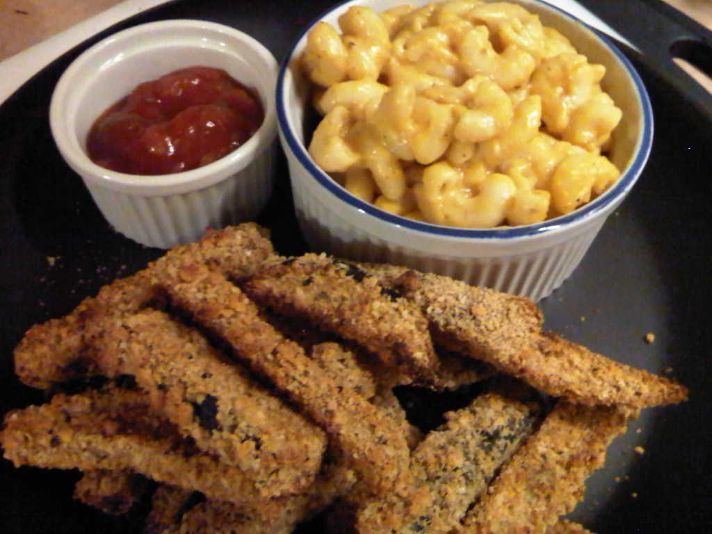 Butternut Squash Mac n' Cheese & Zucchini sticks