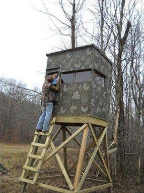 How To Build A 4x6 Deer Blind Deer Stand Deer Hunting Stands Deer Hunting