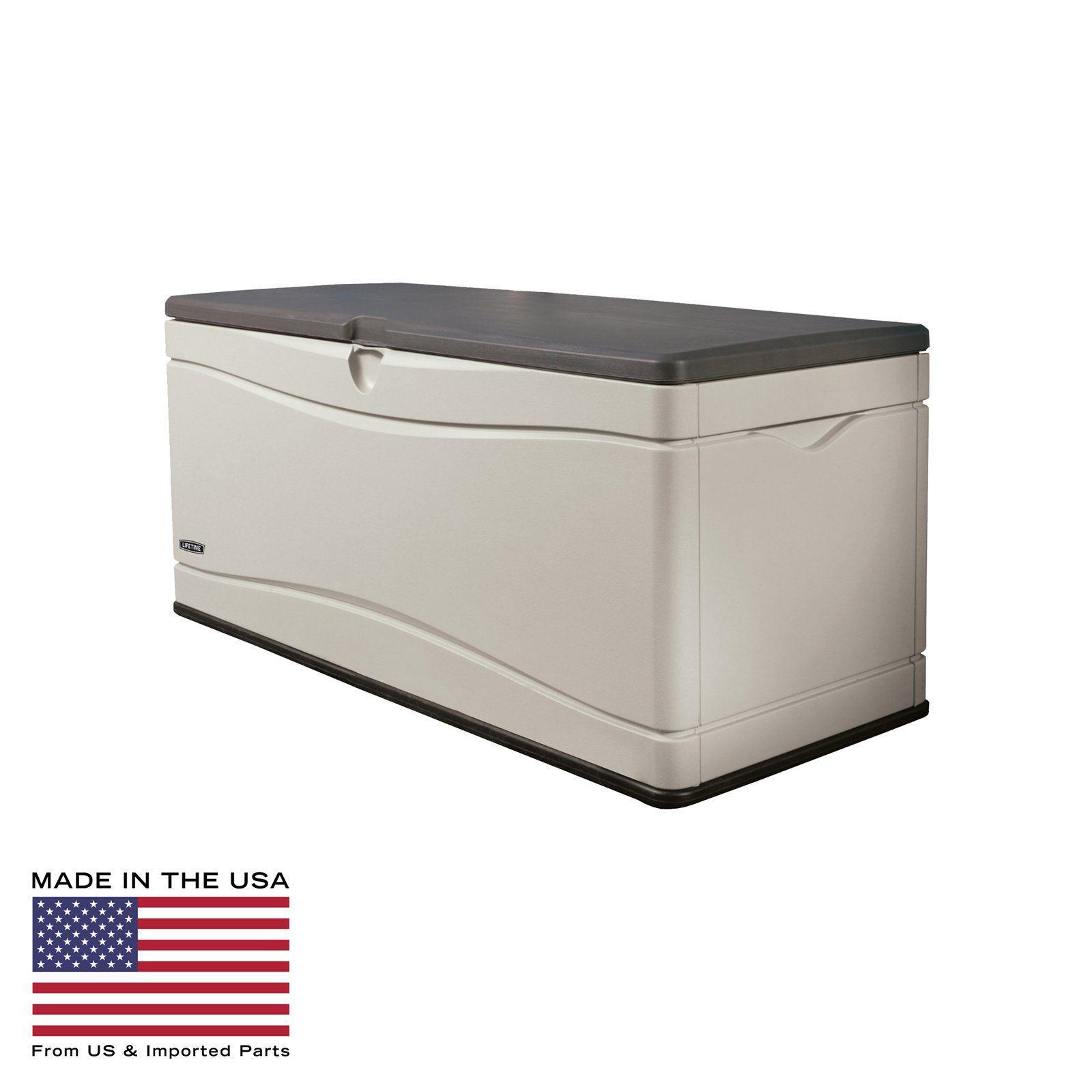 Lifetime 130 Gallon Large Outdoor Storage Box Outdoor Deck Box