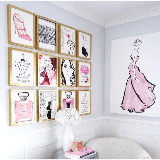 Oooh La La Loving This Gallery Wall Of