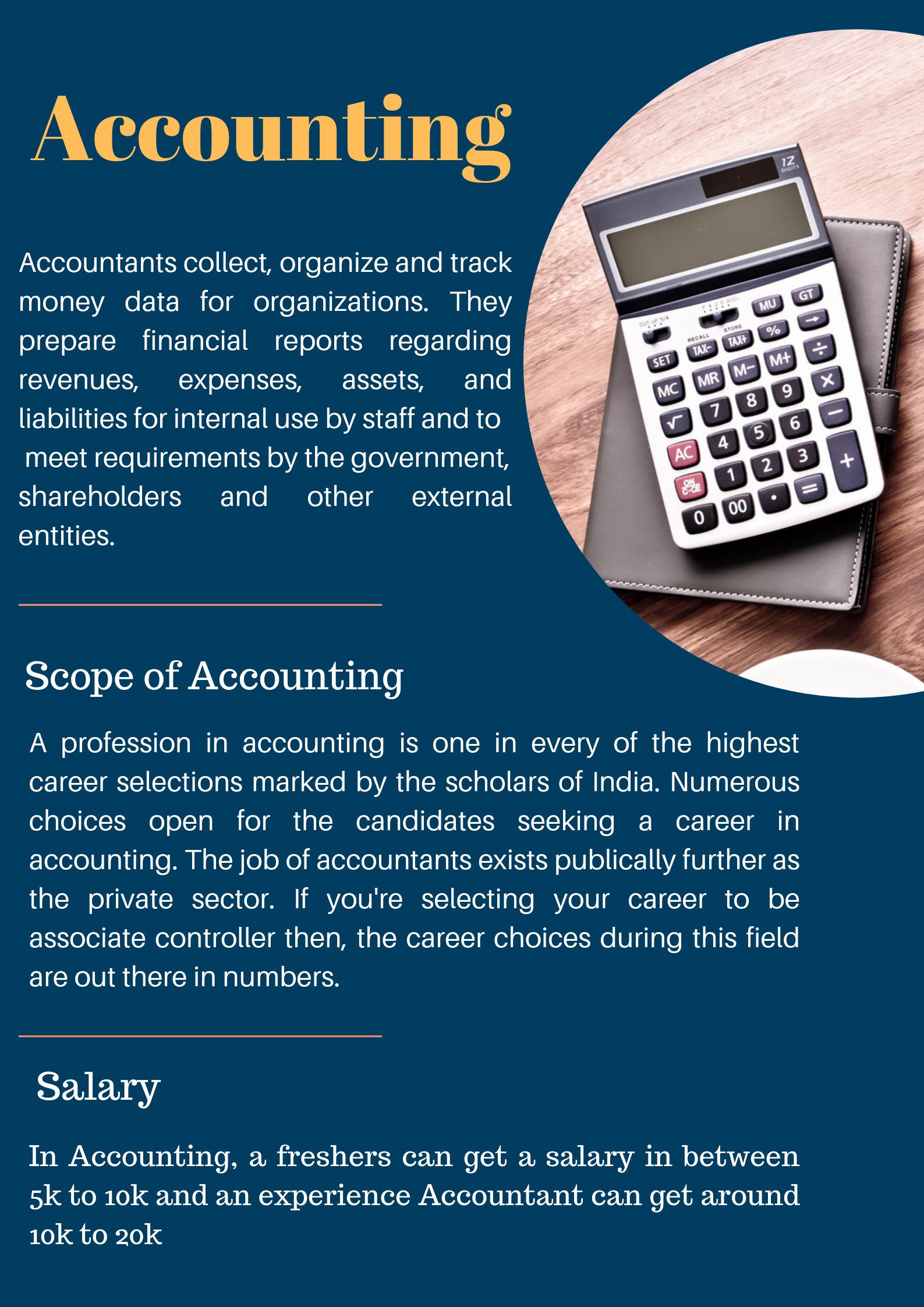 Accountant Job Description Accountants collect, organize