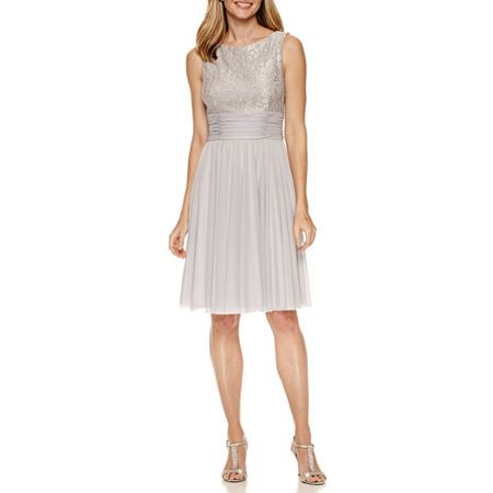 Jessica Howard Sleeveless Fit & Flare Dress, Color: Buff Cream - JCPenney
