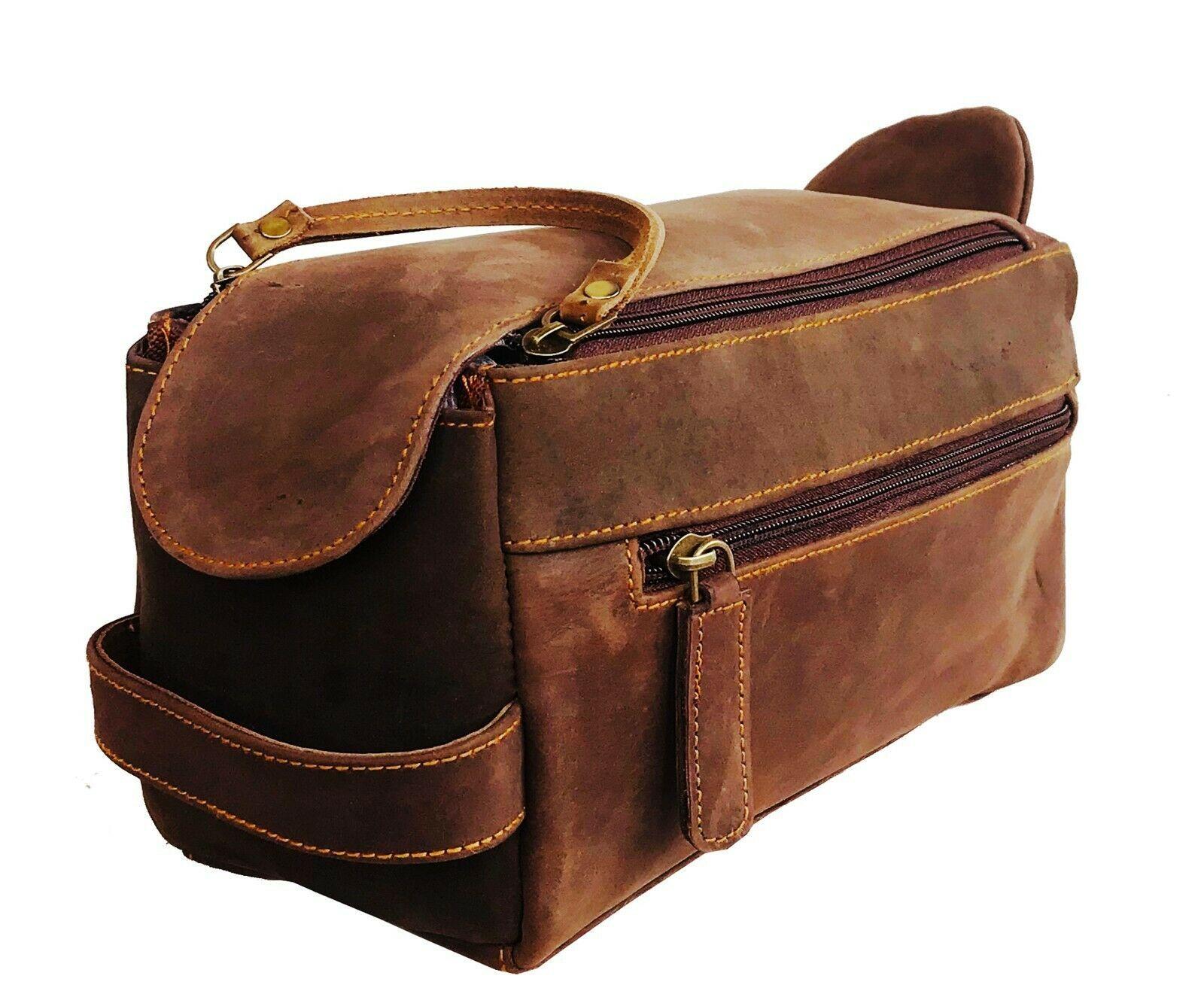 Leather Travel Kit Bag In 2020 Mens Travel Bag Leather Travel Kit Leather Cosmetic Pouch