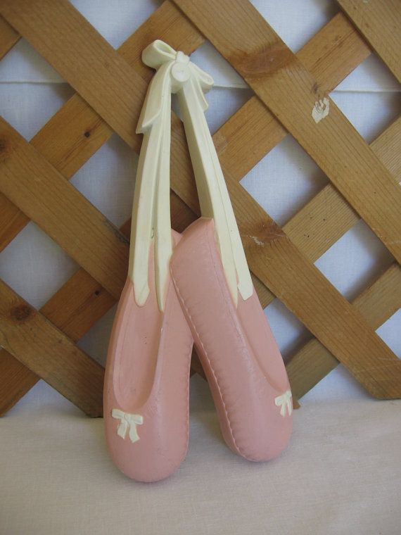 Vintage Homco Pink Ballet Slippers 1991 Plastic by MyVintageTable