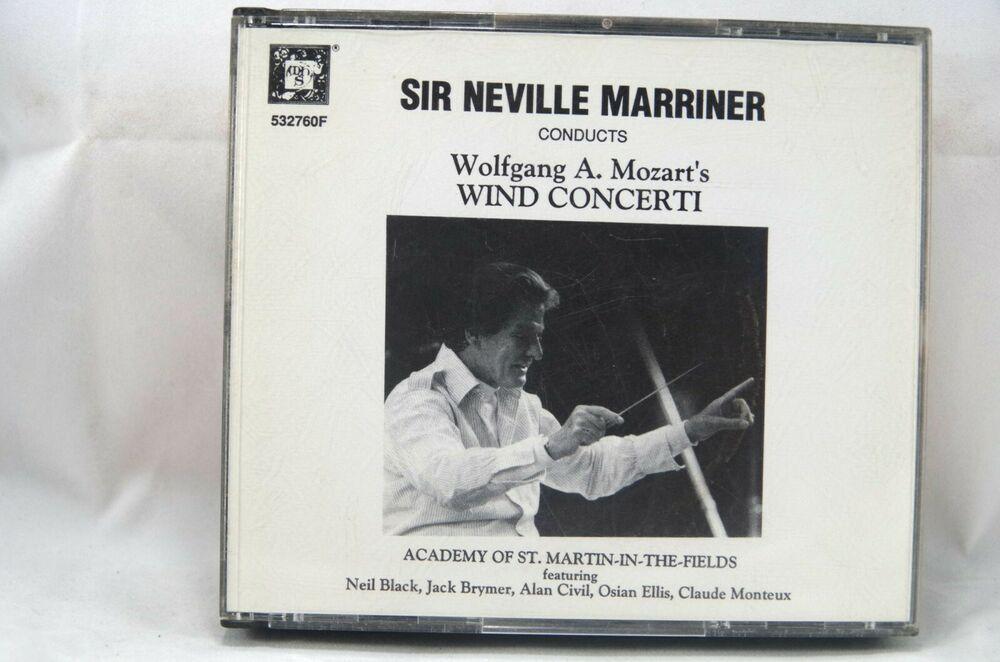 Neville Marriner Asmf Mozart Complete Wind Concerti 3cd Set Musical Heritage Soc Mozart Musicals Wind