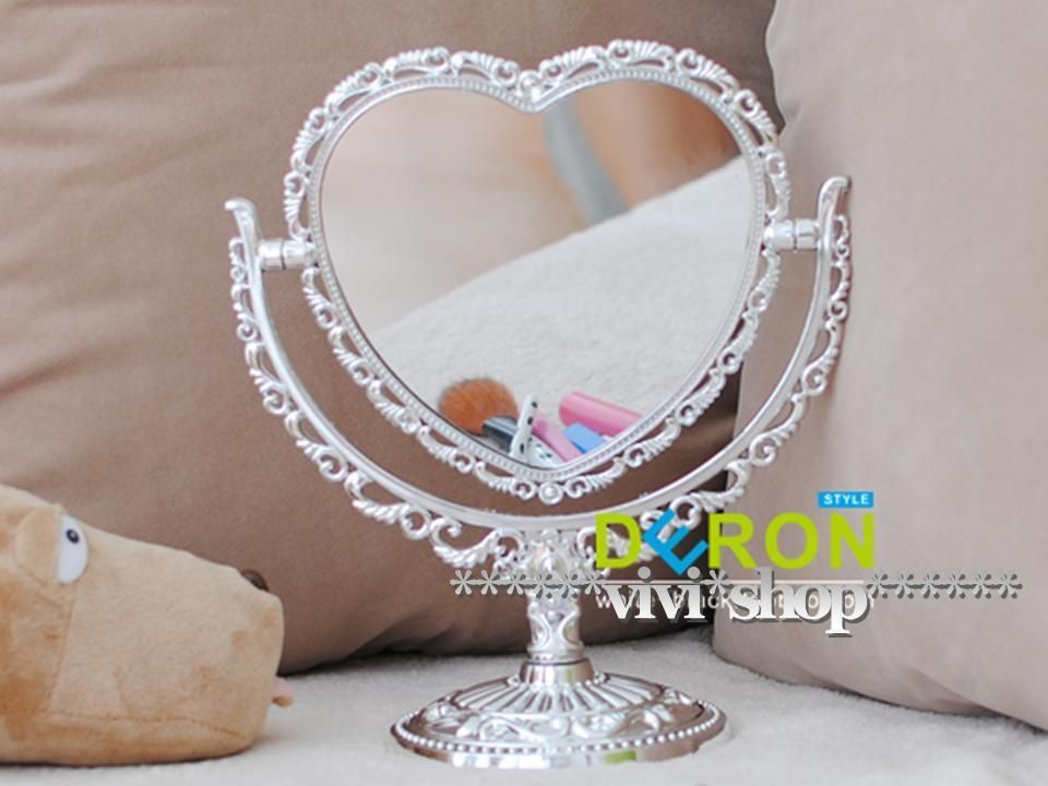 Vintage 2 Sided Silver Heart Shaped Decorative Free Standing Dresser Mirror S71 In Home Garden Home Decor Mirrors Ebay Dresser With Mirror Heart Shapes Vintage Heart