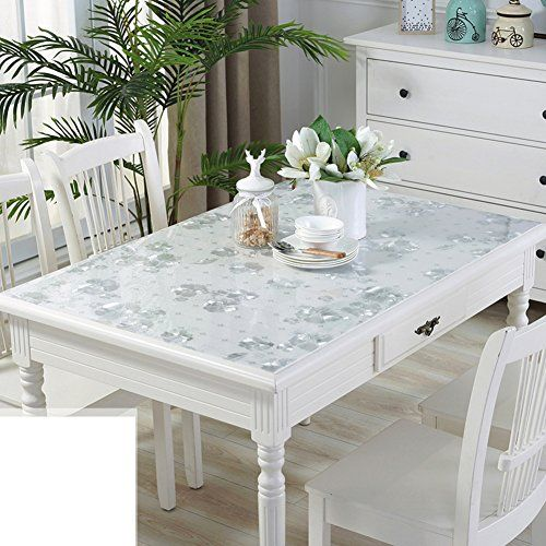 Pvc Tablecloth Waterproof Anti Hot Transparent Table Mats Coffee Mats E 90x90cm 35x35inch Luxury Appliances Table Decor