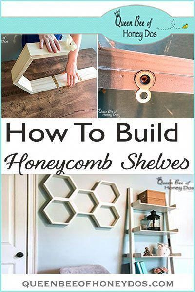 How To Build and Hang Honeycomb Shelves #woodworkingprojectschair