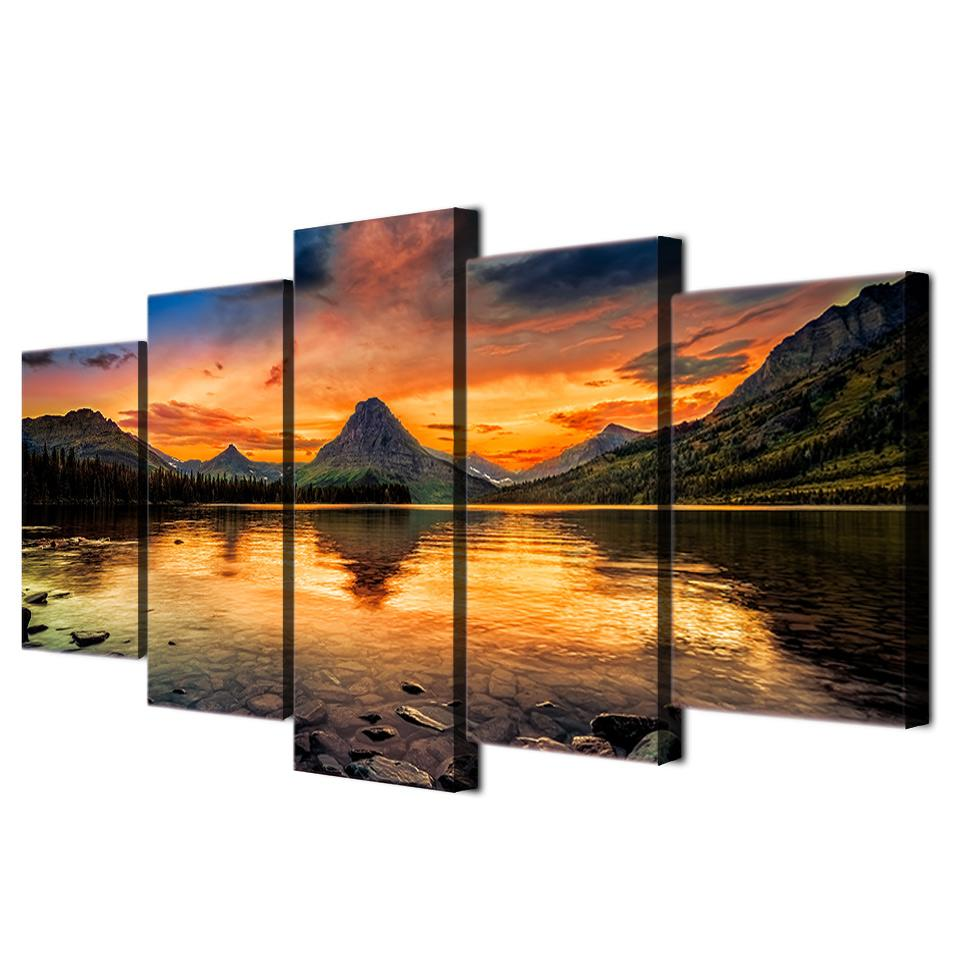 HD Printed scenery medicine lake glacier Painting Canvas Print room decor print poster picture canvas Free shipping/ny-4331