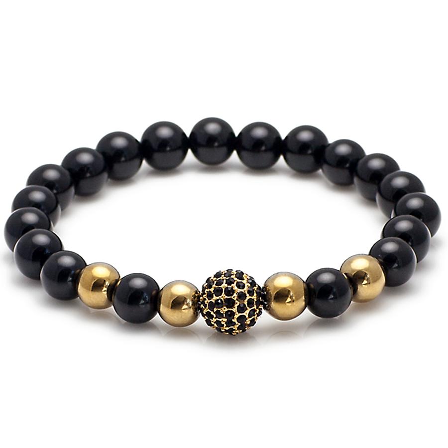 Exclusive King S Swarovski Crystal Ball And Onyx Bracelet Bracelets Beaded Bracelets Trendy Bracelets