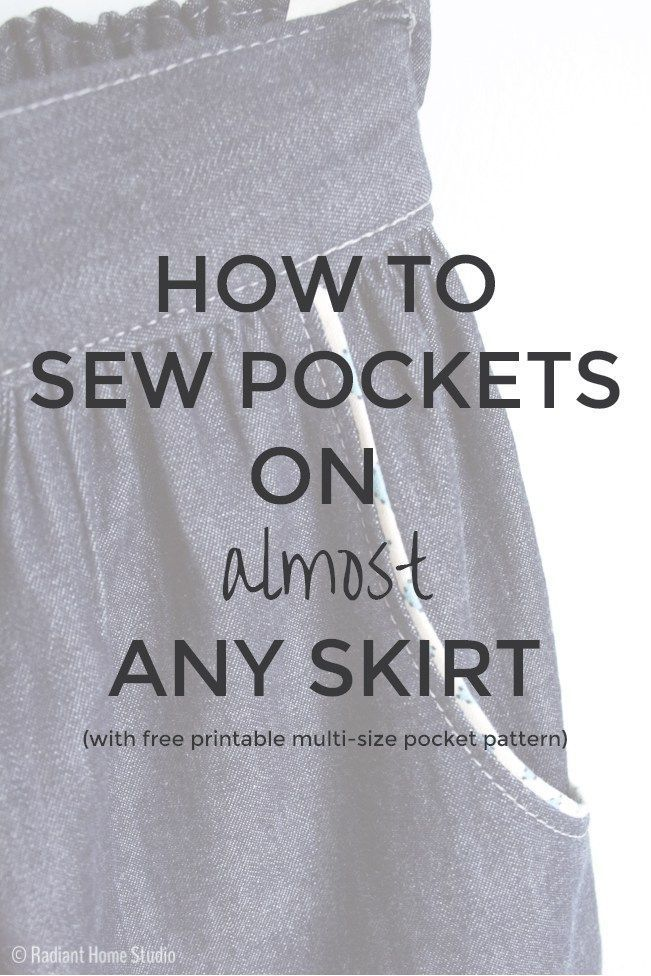 Skirt Pocket Tutorial #sewing