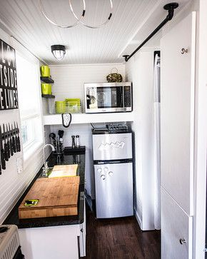 Shoebox Tiny Home Kitchen Design Small Tiny House Kitchen Eclectic Kitchen