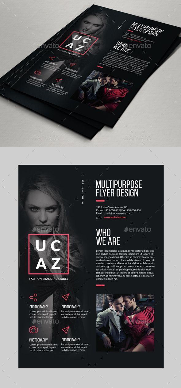 Multipurpose Fashion Flyer Designs Flyer template, Logos and Font logo - fashion design brochure template
