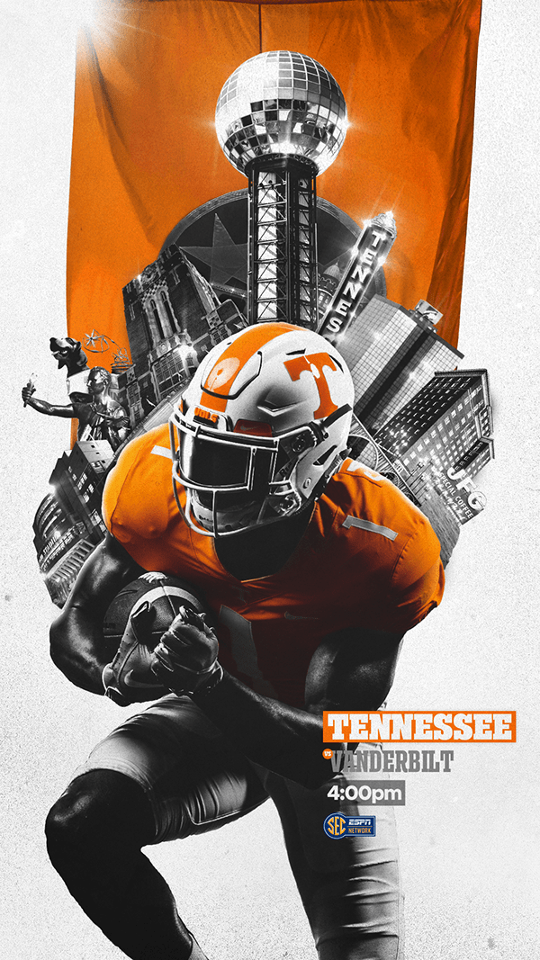 Tennessee Football 2019 On Behance In 2020 Tennessee Football Sports Graphic Design Football Design