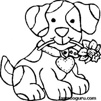 free print out dog coloring pages for kids - Pictures For Kids To Color