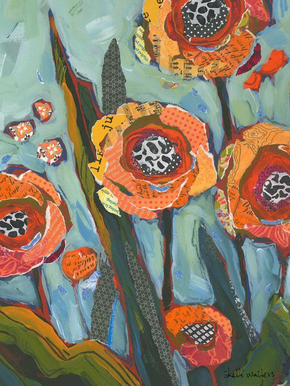Flower Bouquet Vase Original Painting - orange flower painting