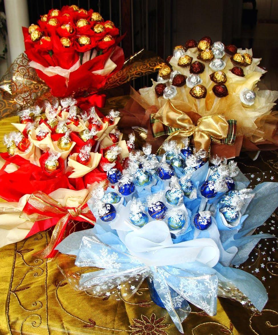 Kafijas krūze: Saldais konfekšu pušķis (candy bouquet) | Valentine\'s ...