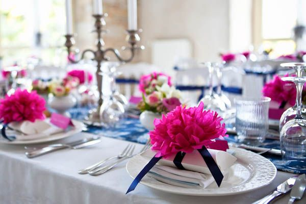 Love the fuchsia and blue combo of this favor.