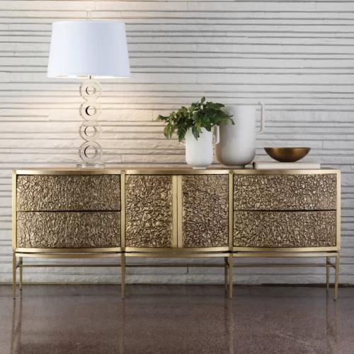 Crinkle Buffet Table Luxury Sideboard Decor Home Decor
