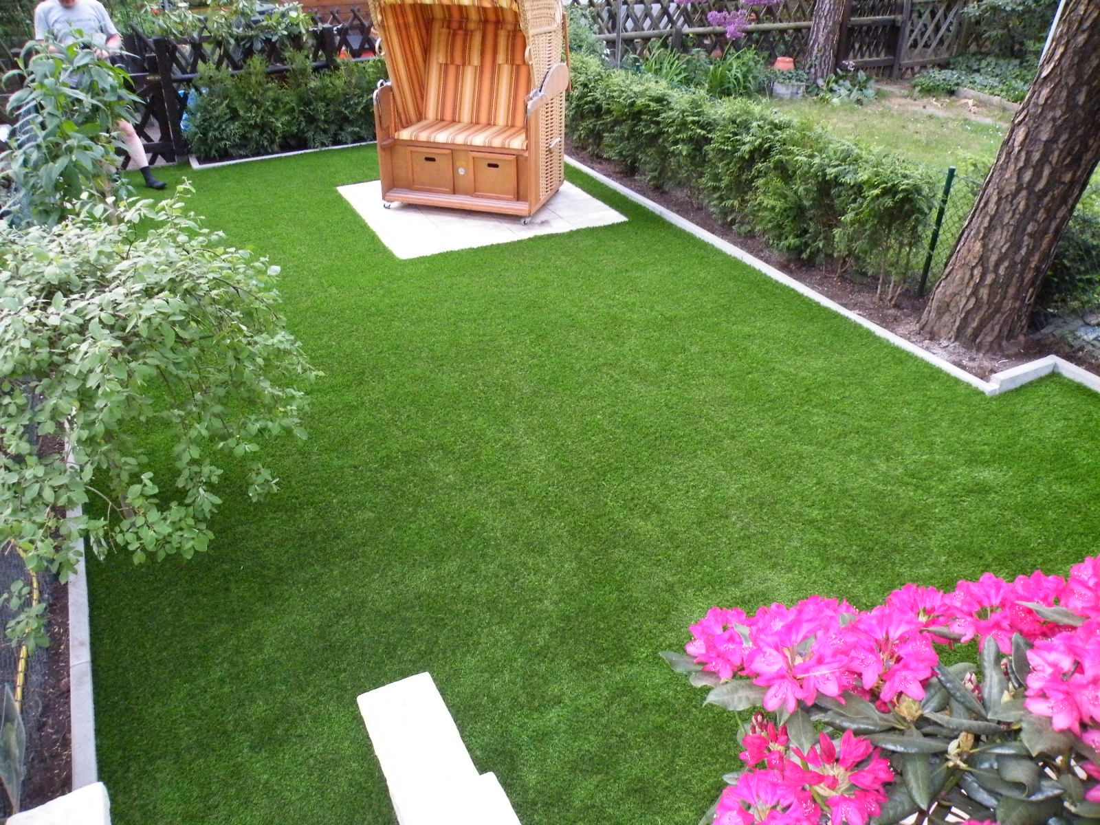 Kunstrasen Im Garten Garten Kunstrasen Rasen