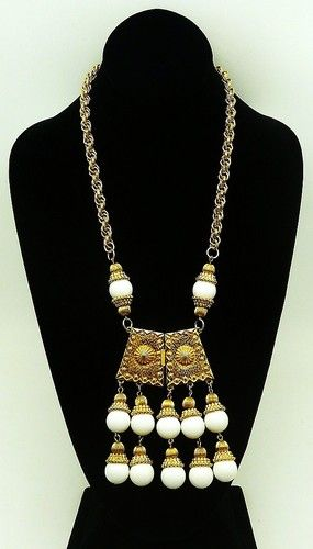 SOLD!  Massive 70's pendant necklace with a modern vibe -