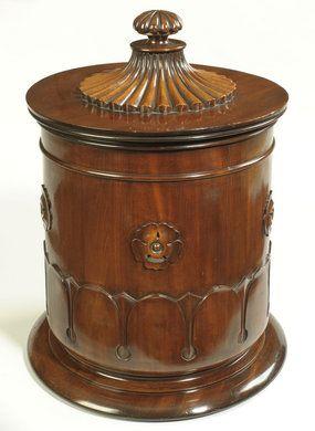 Regency period mahogany tea caddy.