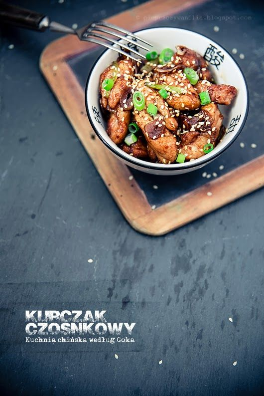 Czosnkowy Kurczak Wedlug Goka Pieprz Czy Wanilia Food Spiced Salad Chicken Dinner