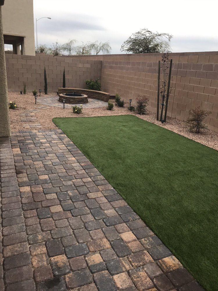 Photo Of Lv Yard Doctor Las Vegas Nv United States My Finished Yard Can T Wait For Plants To Desert Landscaping Backyard Backyard Remodel Turf Backyard