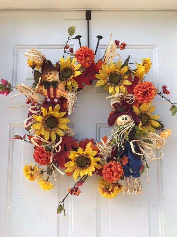 Photo of Autumn wreaths for front door, autumn wreath, Thanksgiving wreath, door wreaths, .-,