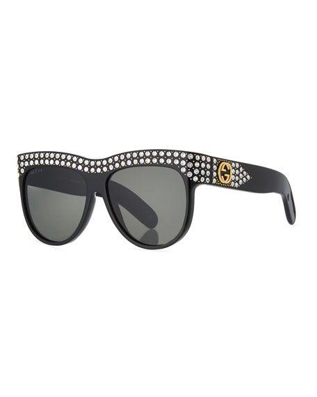 53d34b0b85c4 Swarovski Crystal Square Logo Sunglasses | jewelry - watches and ...