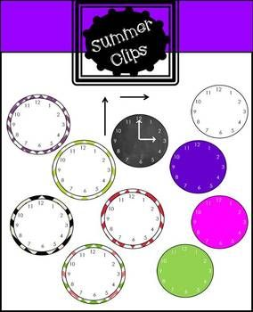 Free Analog Clock Clip art | The Cutest Worksheets and Ideas