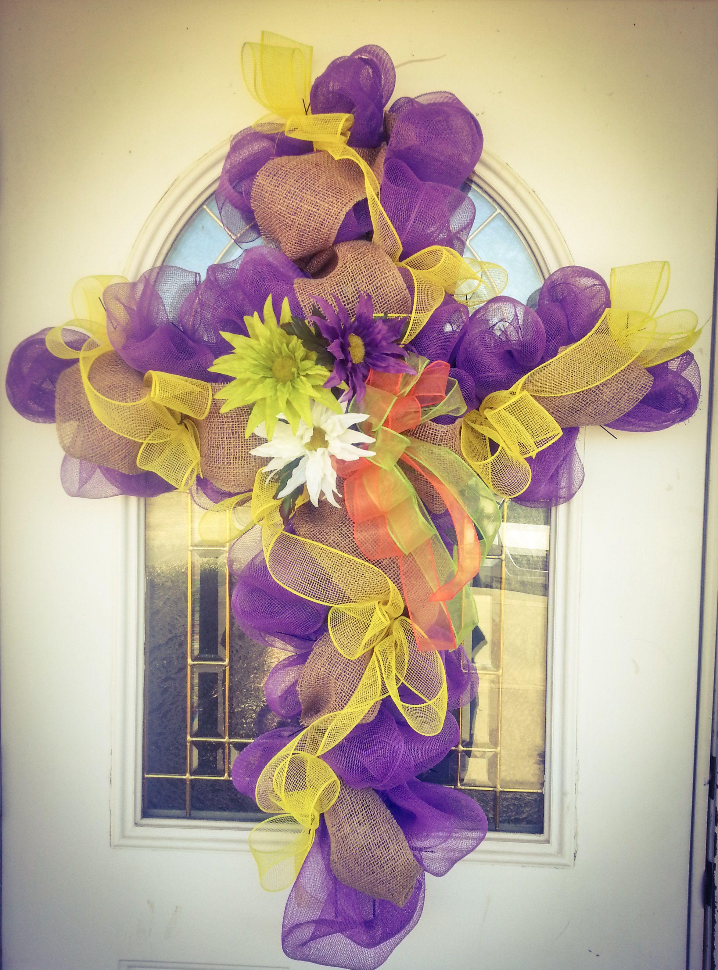 Deco easter cross wreath cross wreath wreaths deco