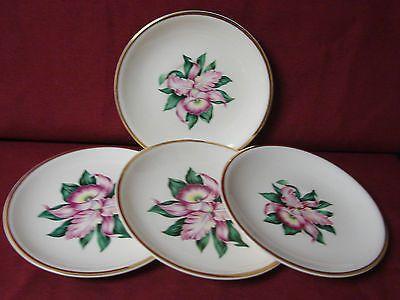 Paden City Potteries China Dinnerware Modern Orchid set 4 Bread Plate