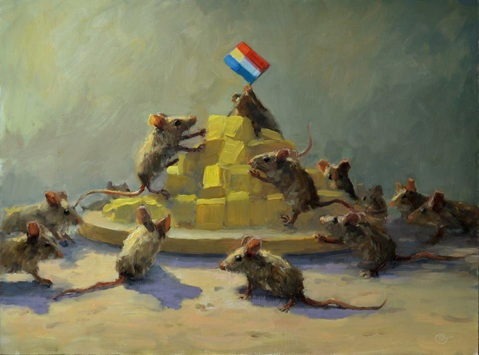 Dat zijn nog eens Bierhuismuizen. Ik denk wel dat de kat met de vele namen een ommetje aan het maken is ....Edwin Grissen De gouden belofte /  the golden promise