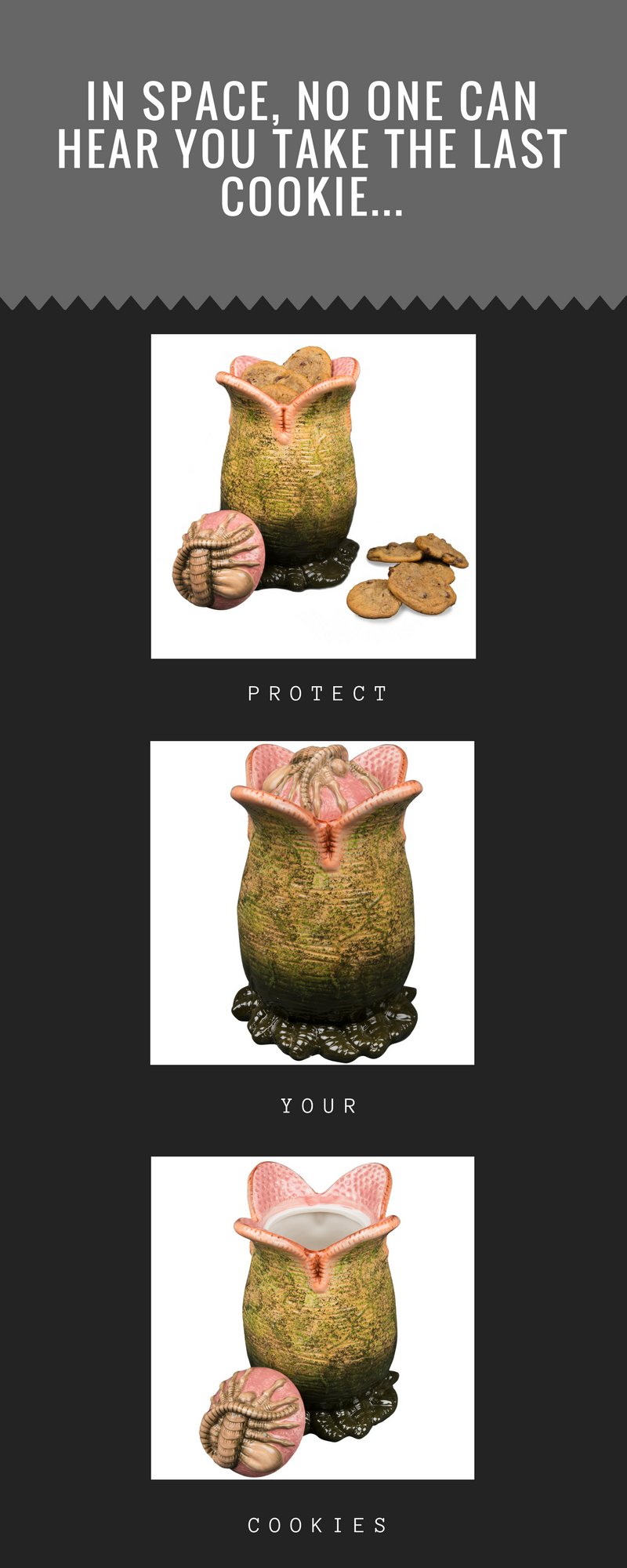 Alien Egg Ceramic Cookie Jar With Facehugger Lid