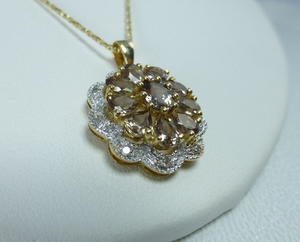COLOR SHIFT GARNET - 14K YELLOW GOLD PENDANT WITH CHAIN #Unbranded #Pendant