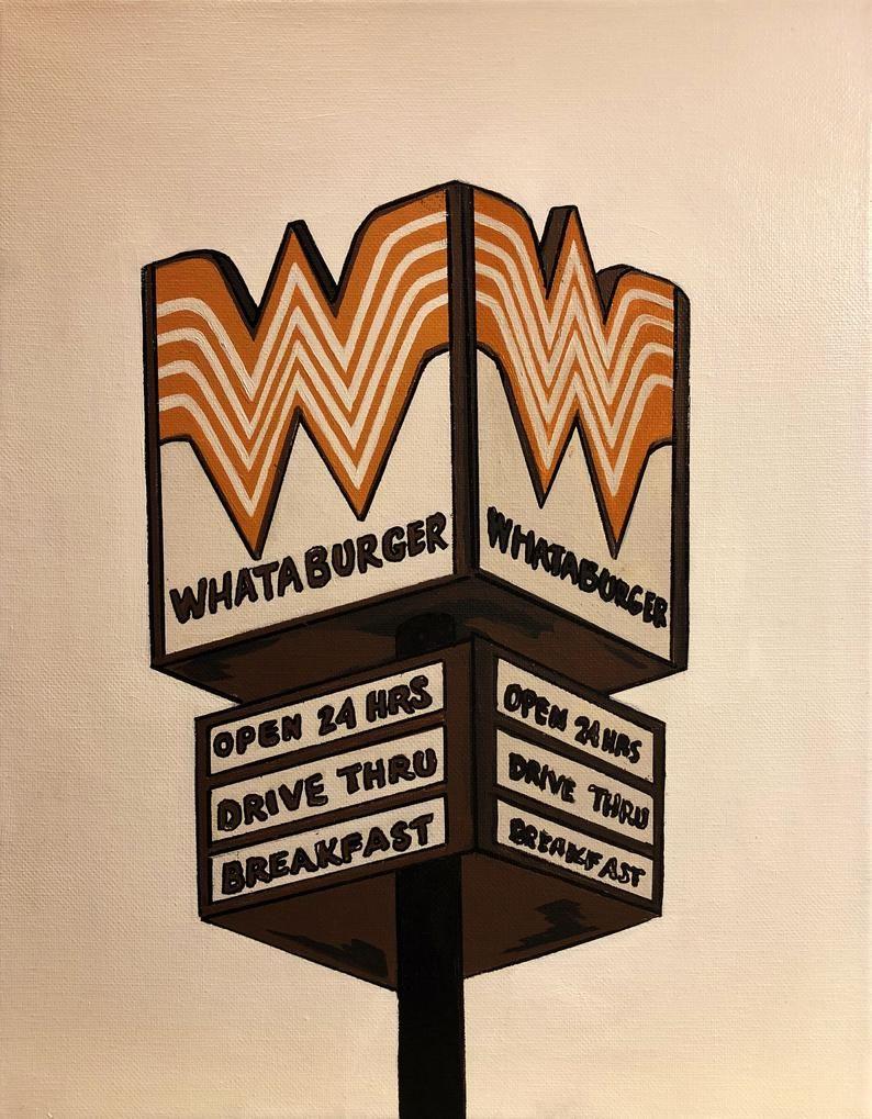 Print vintage whataburger sign houston etsy in 2021