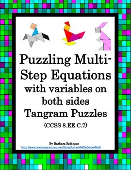 Students will love practicing what they have learned about solving equations with variables on both sides with these 6 engaging puzzle activities. …