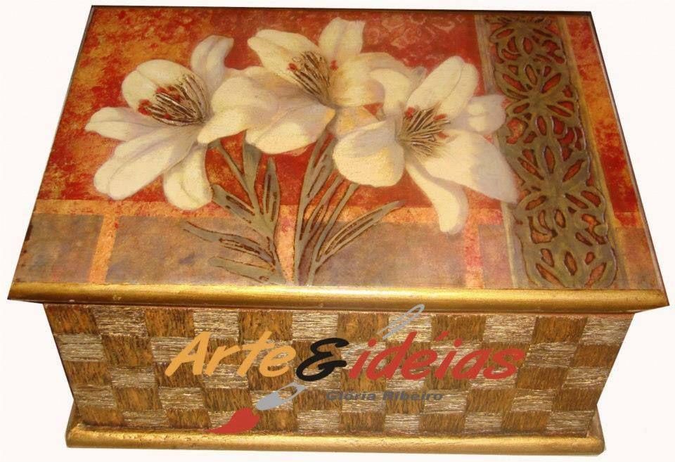 caixa decoupagem www.arteeideias.com.br