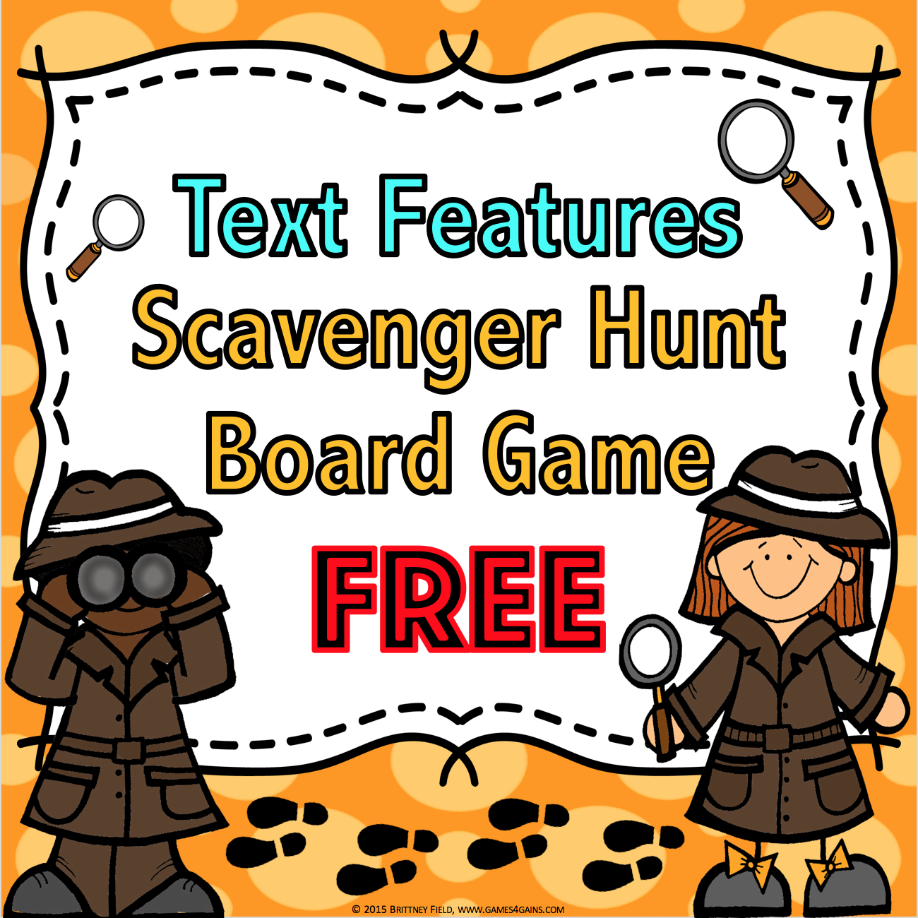 Text Features Scavenger Hunt Game Free Contains 27 Text