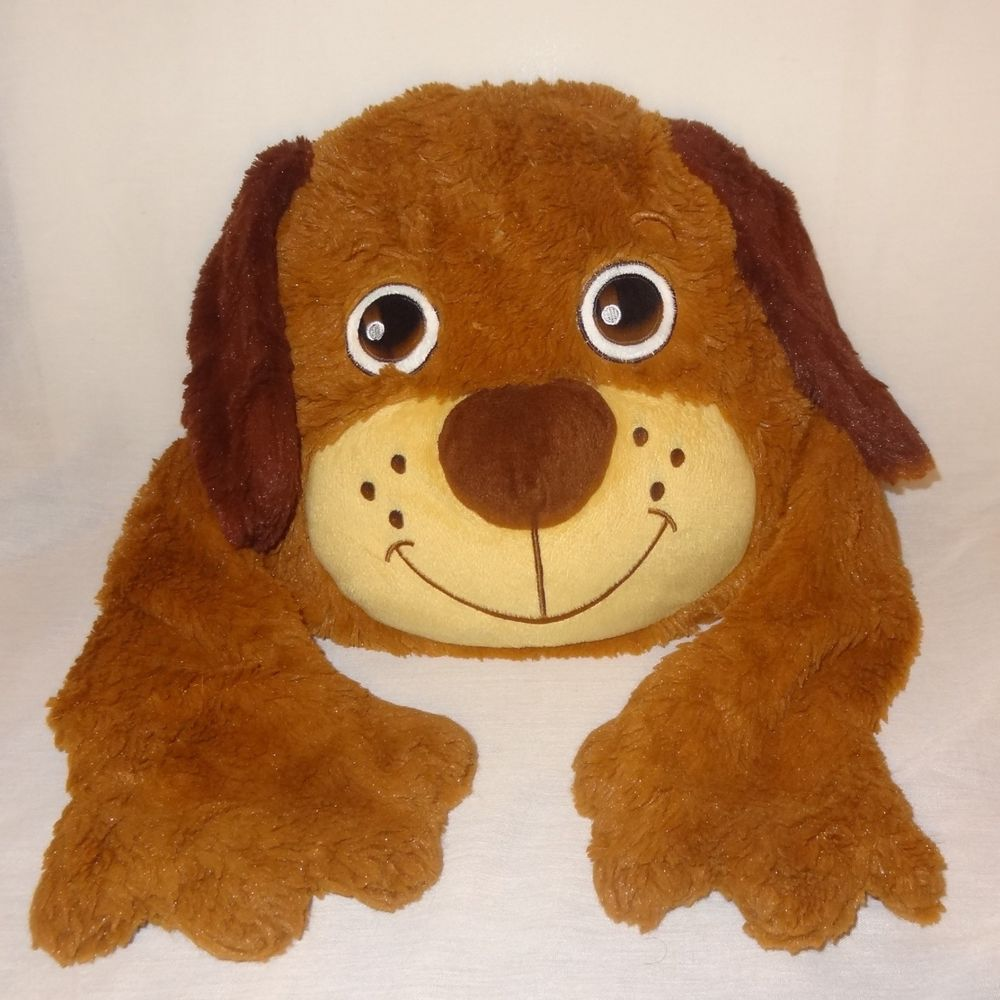 Pillow Dog Puppet Plush Stuff Animal Toy 10 Brown Arms Hands Puppy Pet Toys Plush Stuffed Animals Toys [ 1000 x 1000 Pixel ]