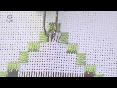 Punto de Bucle, Técnica Hardanger. Editorial Toukan - YouTube