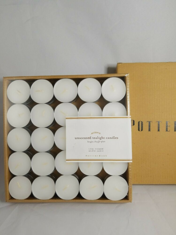 Details About Pottery Barn Unscented Tealight Candles Set