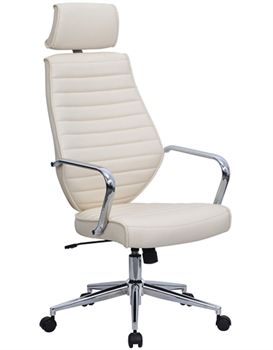 The Memphis will add a touch of elegance to either your work place or home office. Available in Black or Cream leather.