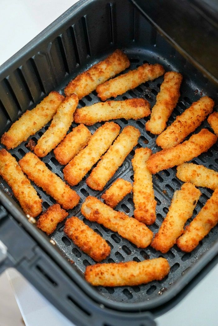 Air fryer fish sticks are the bomb! WAY better than
