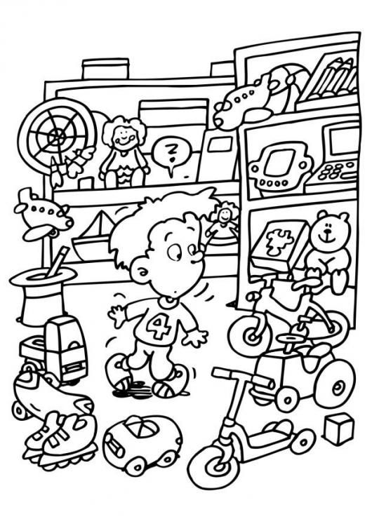 Toy Store Coloring Pages Coloring Pages For Kids Toy Store